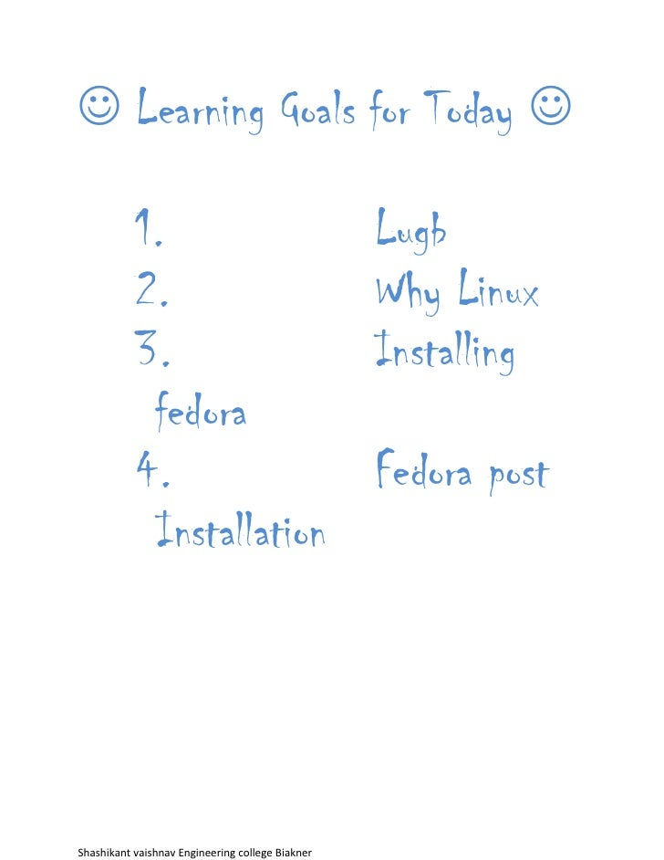  Learning Goals for Today            1.                                     Lugb           2.                           ...