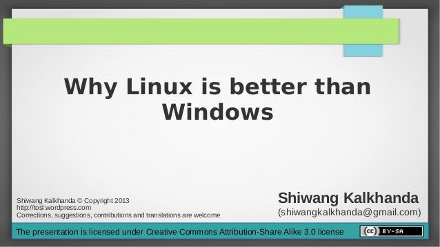 Why linux is better than windows