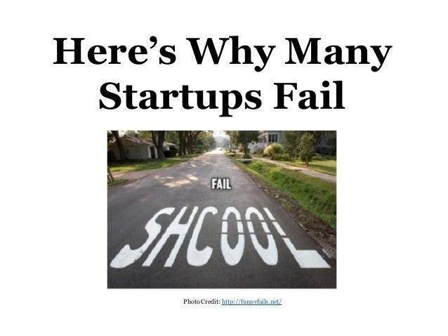 Why many startups fail
