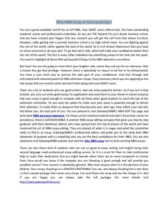 Unc mba essay sample