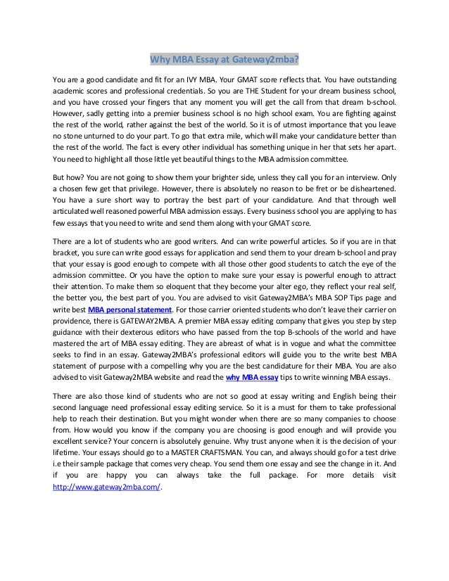 writing a statement of purpose essay