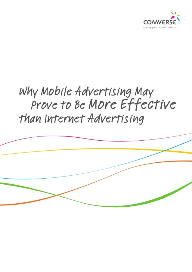 Why mobile advertising is more effective than internet advertising