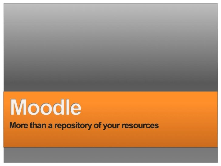 Tired of using Moodle to upload documents and Power Points?