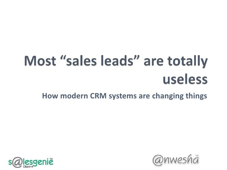 How modern CRM systems are changing things