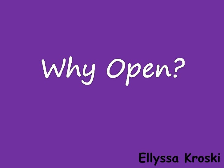 Open and Libraries