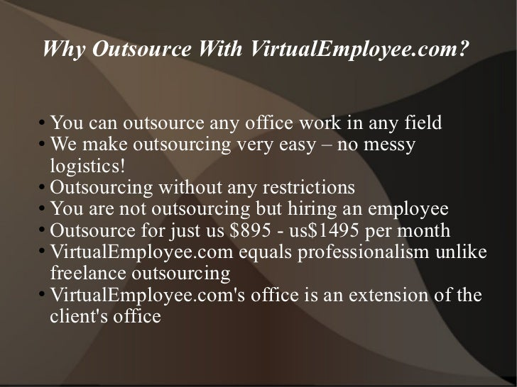 Why outsource with virtual employee.com
