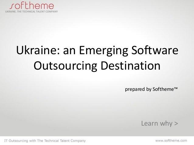 Ukraine: an Emerging Software Outsourcing Destination