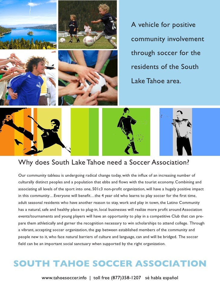 Benefits for Lake Tahoe Youth Soccer