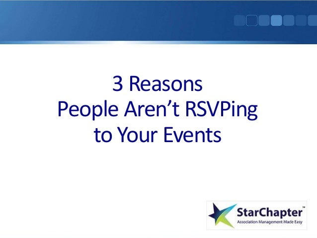 3 Reasons People Aren't RSVPing to Your Event