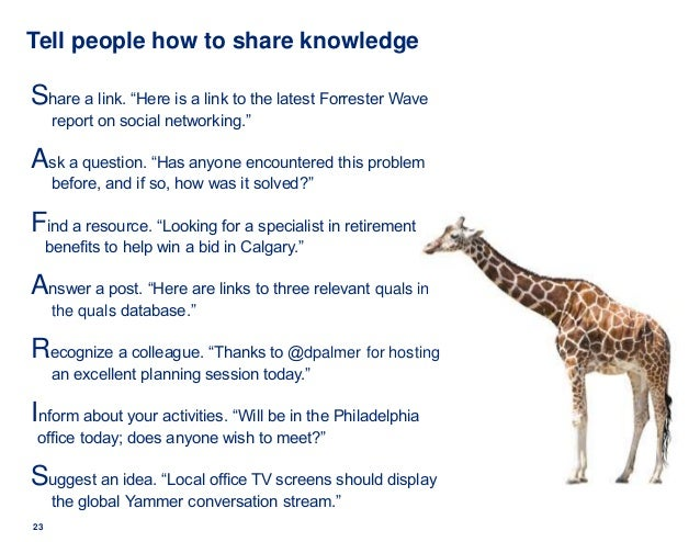 Share knowledge?
