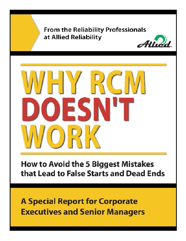 Why RCM Doesn\'t Work