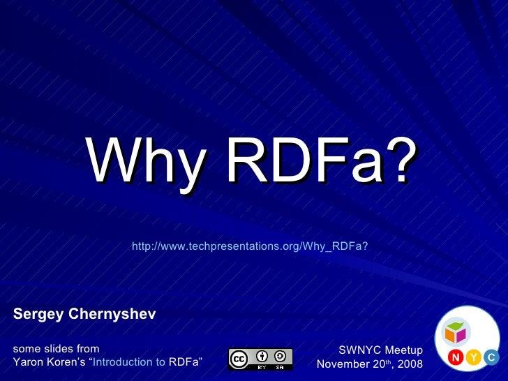 Why RDFa?