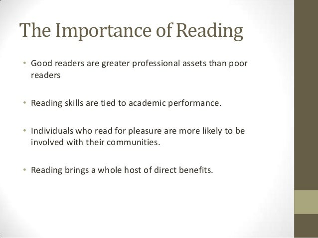 essay importance of reading This article is about the importance of reading which help us to increase our knowledge.