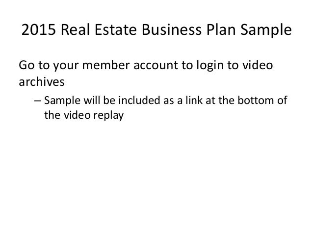 business plan for estate agents free