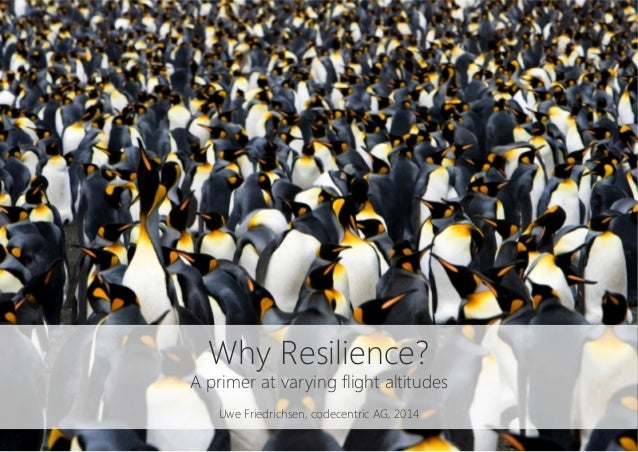 Why Resilience? A primer at varying flight altitudes  Uwe Friedrichsen, codecentric AG, 2014