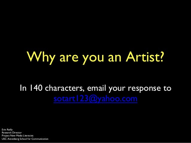 Why are you an artist?