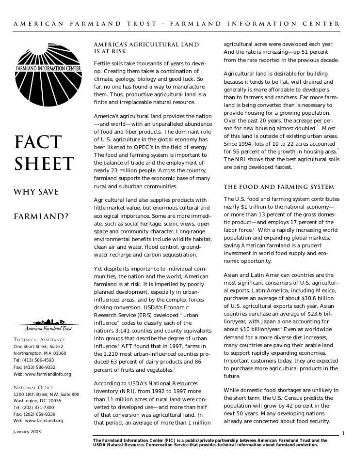 AMERICAN                  FARMLAND               TRUST            ·   FARMLAND                  INFORMATION               ...