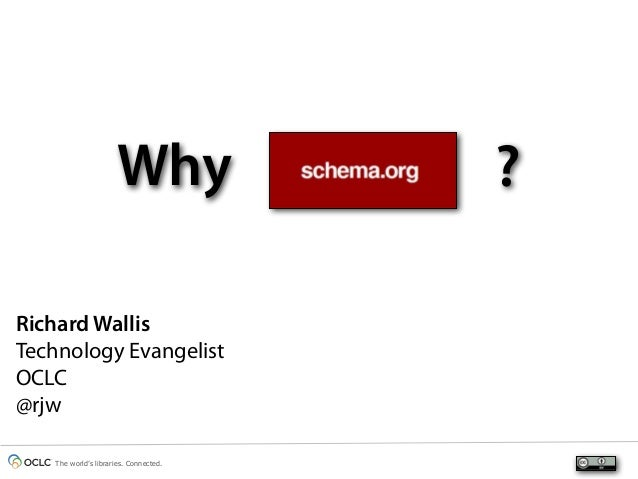 Why ?Richard WallisTechnology EvangelistOCLC@rjwThe world's libraries. Connected.