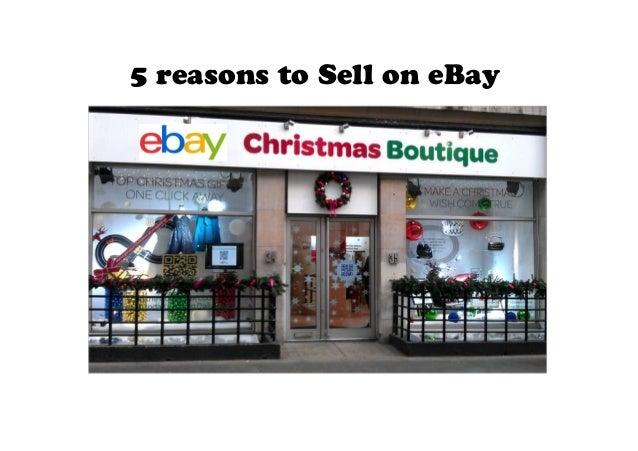 Why selling on e bay makes sense