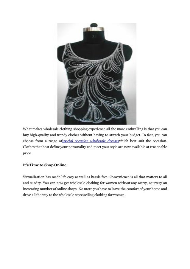 Shop Wholesale Clothing
