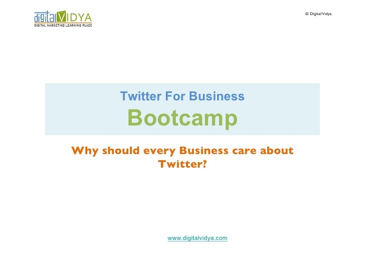Why should every business care about twitter