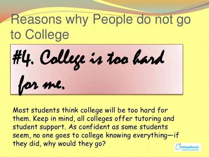 reason to attend college essay We provide a top-notch admission essay service and give free advice about the voting instructions reasons why i chose to attend college.