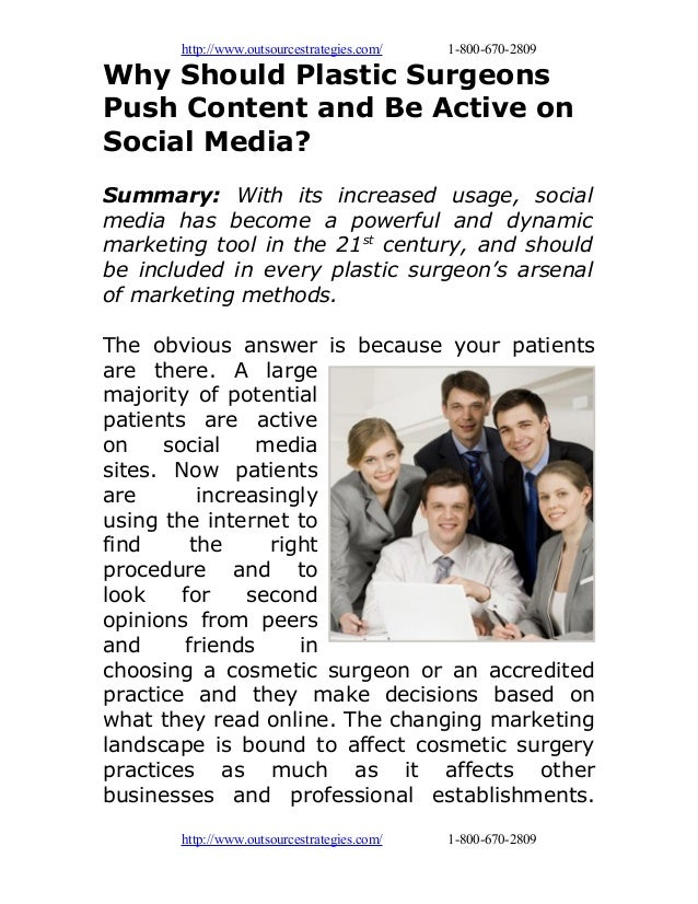 Why should plastic surgeons push content and be active on social media