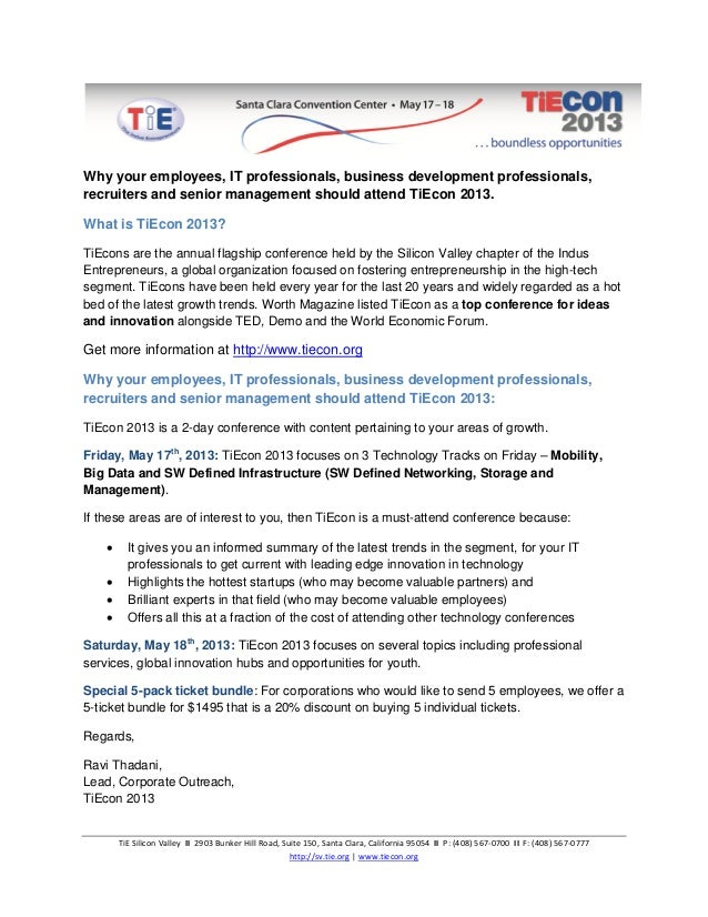 Why should your employees attend TiEcon 2013