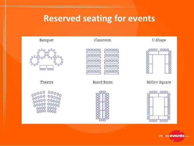 Reserved seating for events