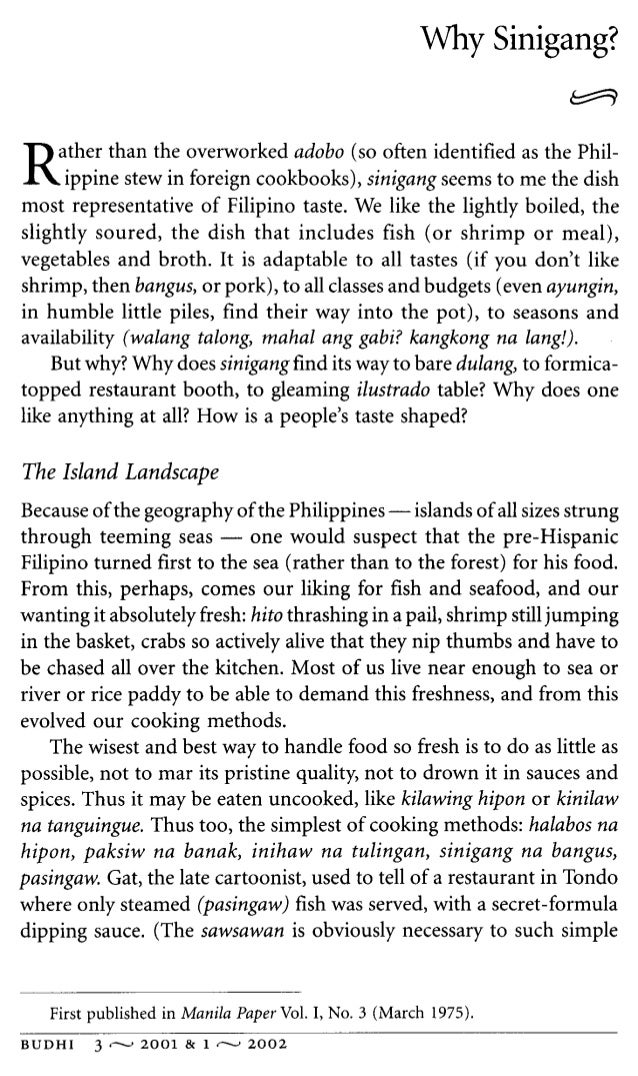 Informative essay why sinigang