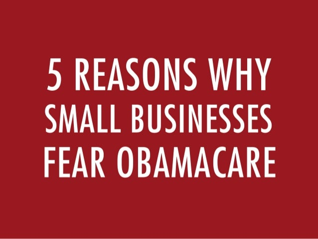 5 Reasons Why Small Businesses Fear Obamacare
