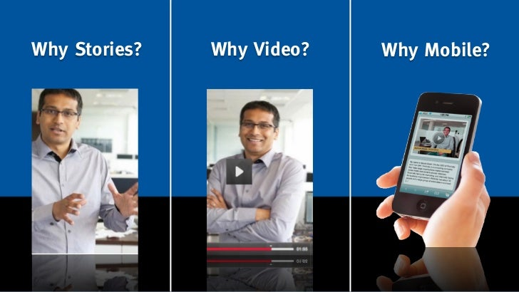 Why Stories?   Why Video?   Why Mobile?