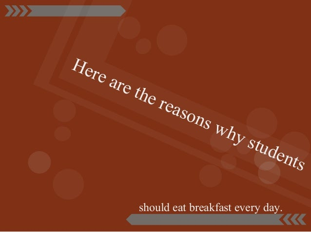 Persuasive research paper on eating breakfast?