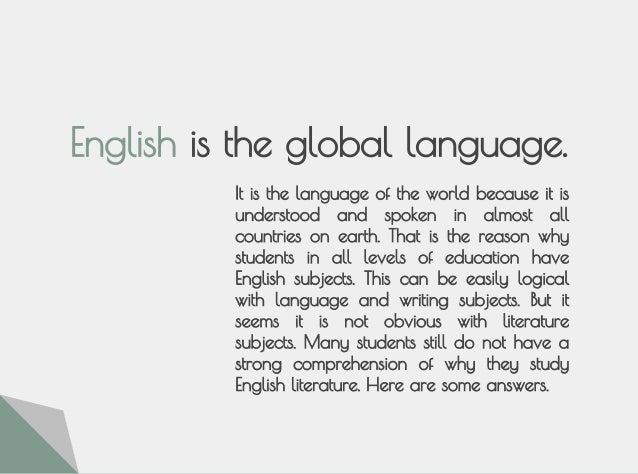 essay about why english is a global language