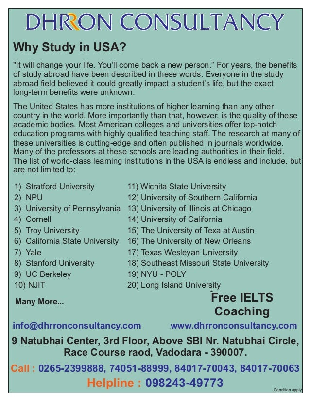 Why study in USA 2014