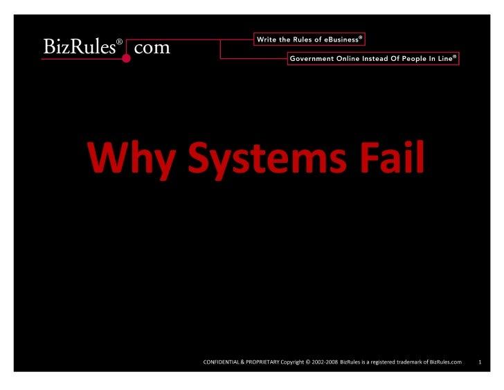 Why Systems Fail