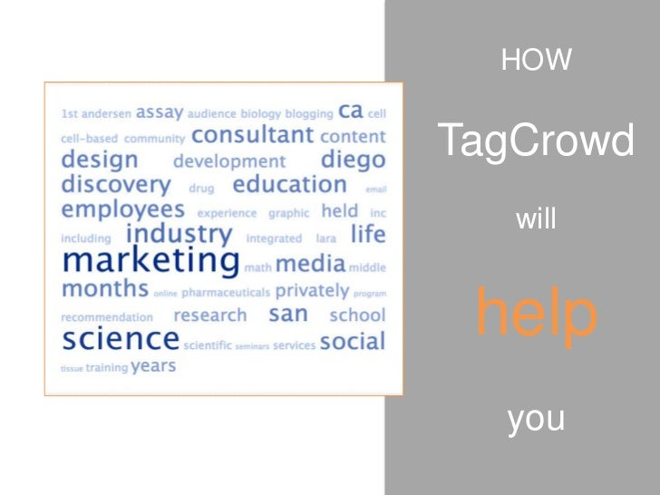 HOWTagCrowd   will help  you
