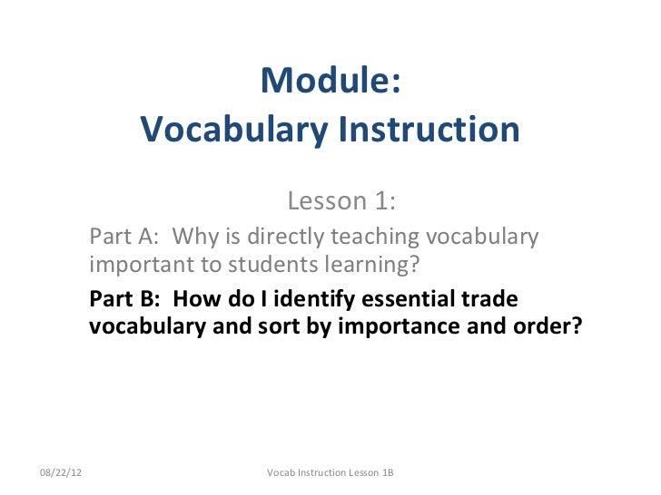 Why teach trade vocab1 b