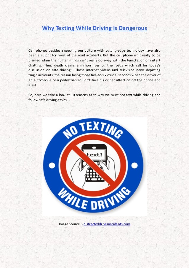 texting while driving is dangerous essay