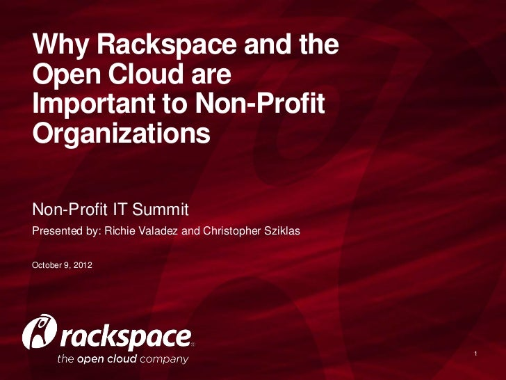 Why the Cloud is Important for Non-Profit Orgs