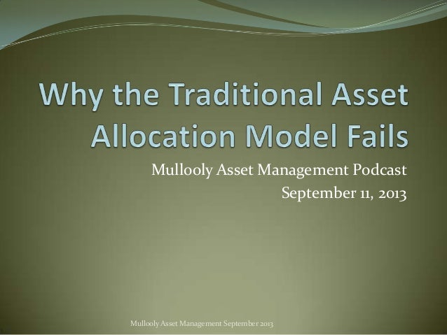 Mullooly Asset Management Podcast September 11, 2013  Mullooly Asset Management September 2013