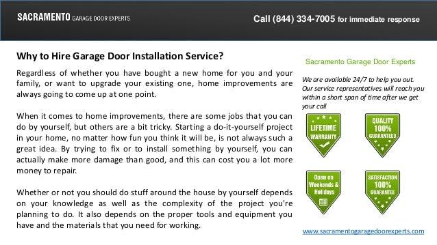 Why To Hire Garage Door Installation Service