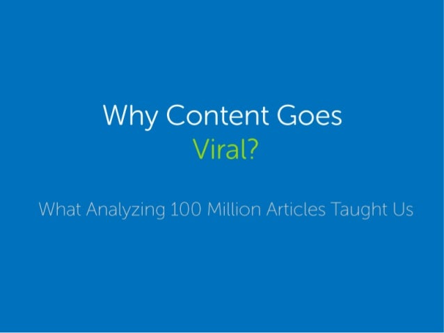 Why to make content goes viral