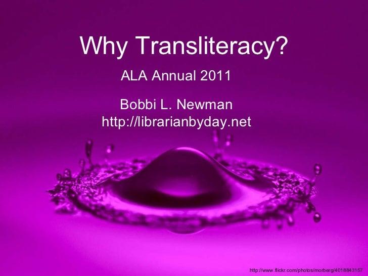 Why transliteracy