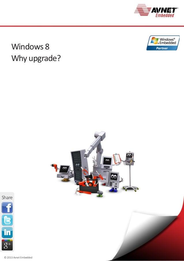 © 2013 Avnet EmbeddedWindows 8Why upgrade?Share