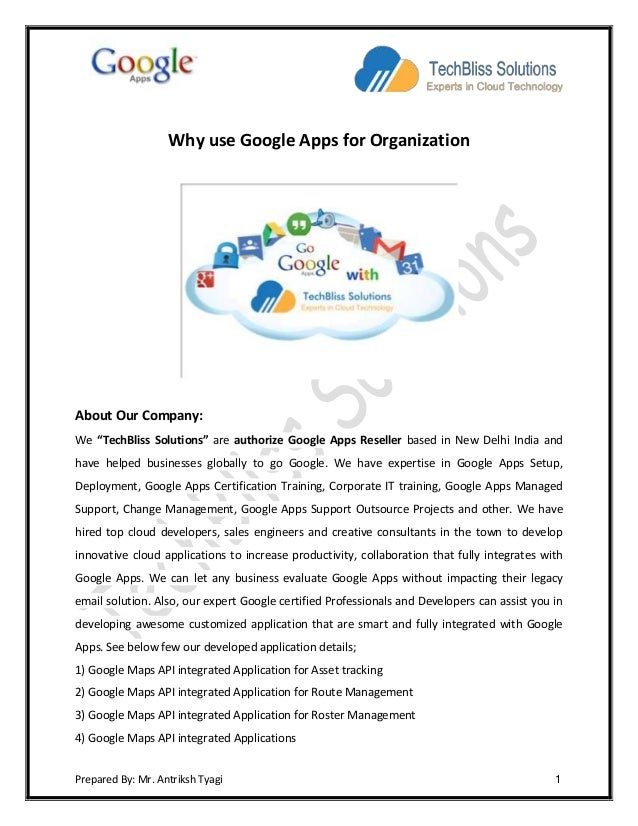 Why use Google Apps for Organization