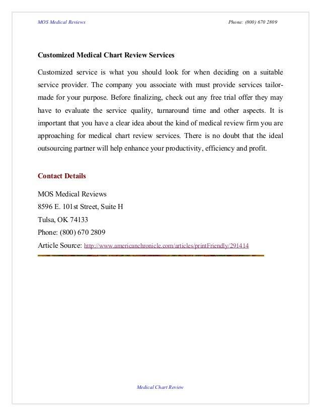 Medical Chart Review Mos Medical Reviews Phone
