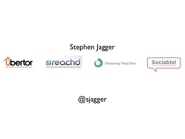 Stephen Jagger  @sjagger