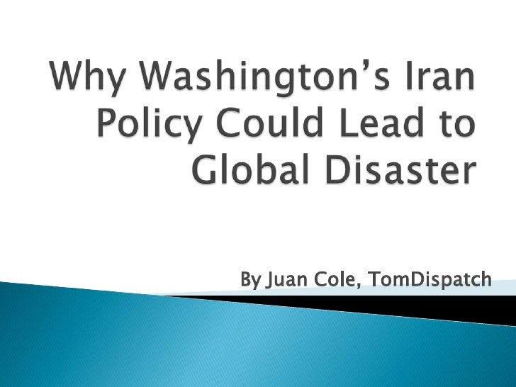 group of south korea springhill: Why Washington's Iran Policy Could Lead to Global Disaster