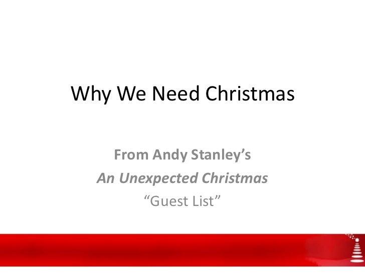 Why we need christmas